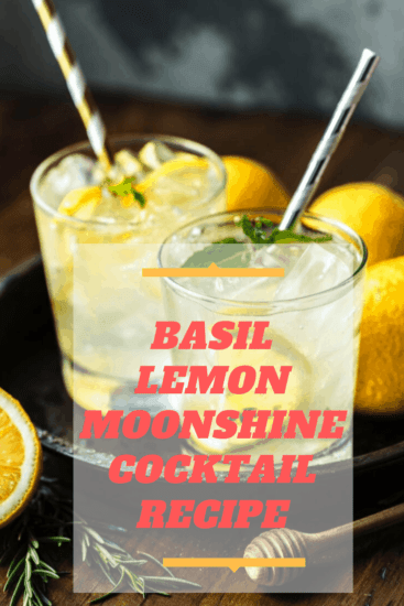 Basil Lemon Moonshine Cocktail Recipe