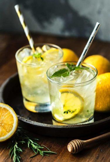 Basil Lemonade Drinks