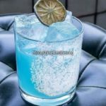 Mezcal Cocktail With Blue Curacao