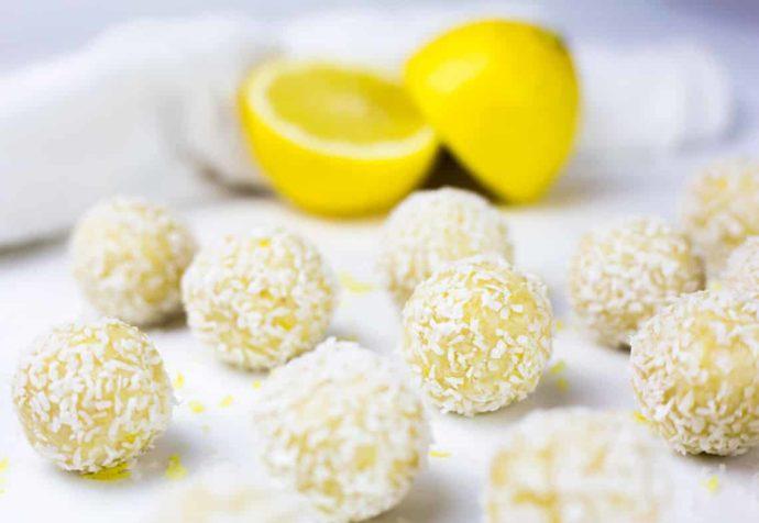Creamy Lemon Coconut Bliss Balls (Paleo)