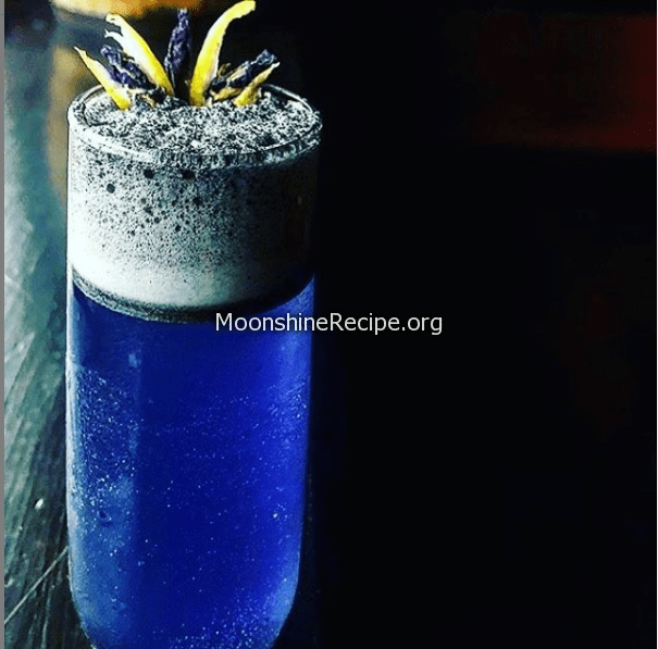 lemongrass butterfly pea tea infused tequila