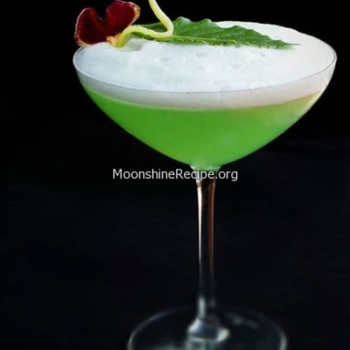 Sage infused green cocktail gin