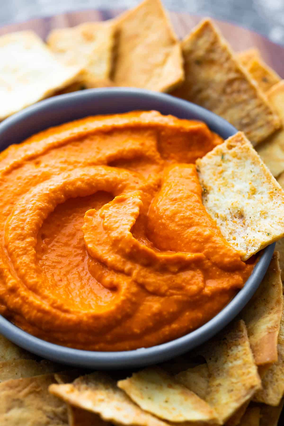 Roasted Red Pepper Hummus | Sweet Peas and Saffron