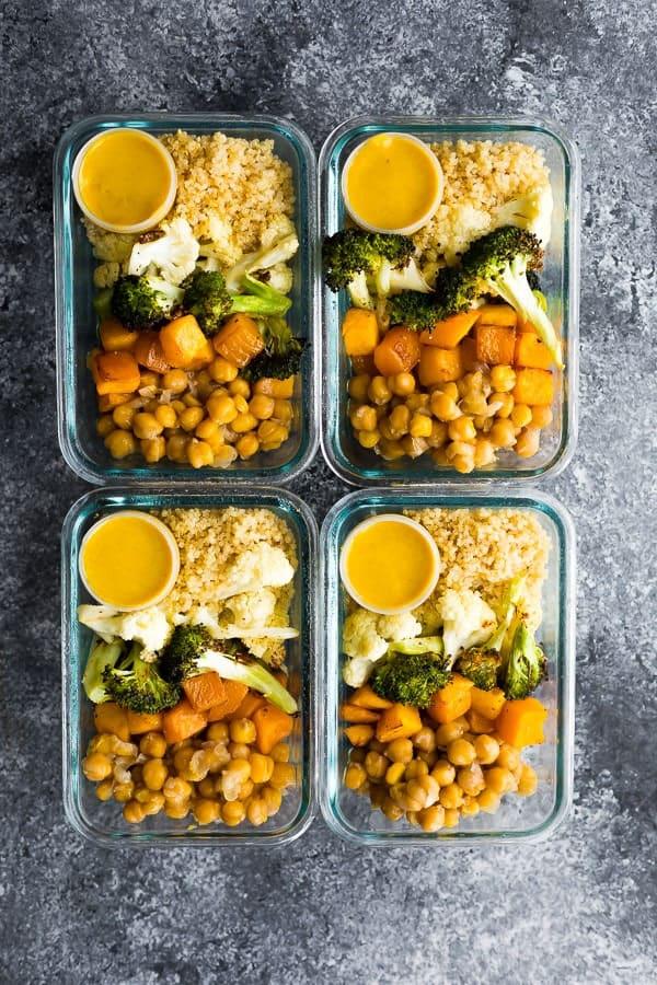Vegan Roasted Vegetable Meal Prep