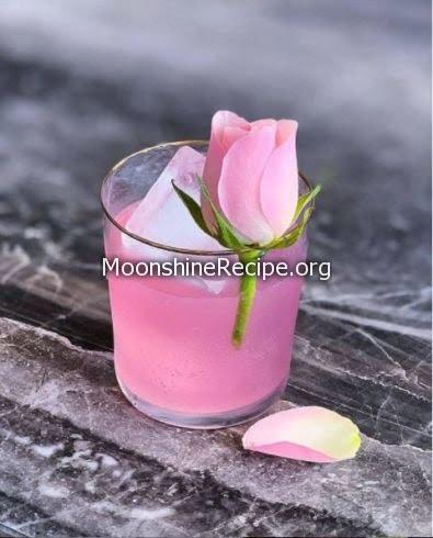 Sparkling Rose Syrup Cocktail